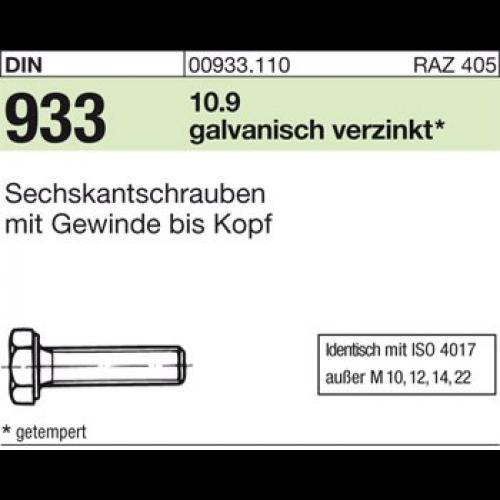 Sechskantschrauben mit Gewinde bis Kopf DIN 933 10.9 M 12 x 35