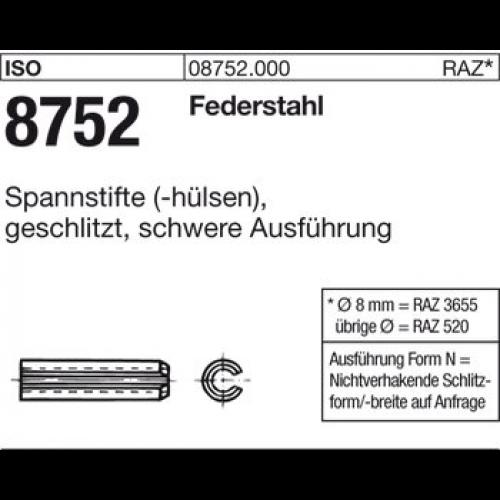 Spannh/ülsen DIN 1481 1.4310 Spannstifte 50 St/ück schwere Ausf/ührung Abmessung: 5x32