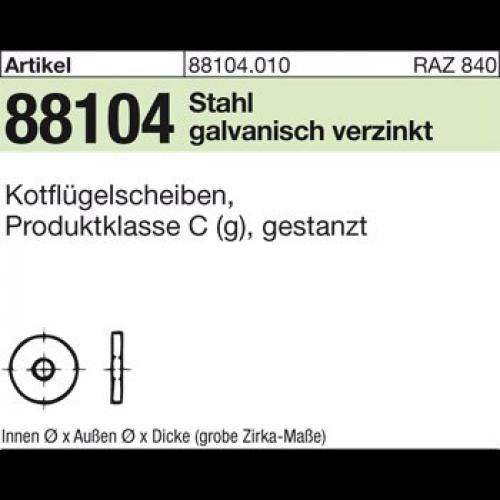 verzinkt gal Zn St 4,3x 20 x1,25 galv Kotflügelscheiben ART 88104 Kotfl.-Sch